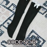 CAC000072 White Ribbon/Black Socks for 1/3, 1/4 dolls