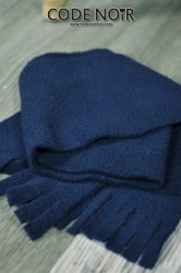 CAC000005 Navy Plush Scarf