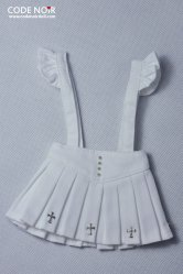COB000013 White Cross Jumper Skirt