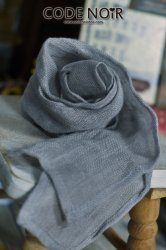 CAC000012 Grey Linen Scarf