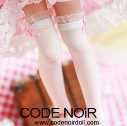 CAC000055 Pink Ribbon/White Socks for 1/3, 1/4 dolls