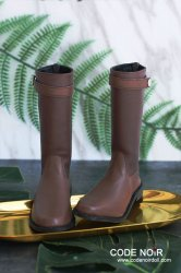 CBS000032 Deep Brown Two Tone Riding Boots