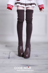CMS000075 Brown Thigh-High Stocking Boots (High Heel)