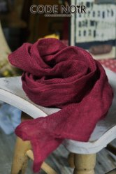 CAC000011 Claret Linen Scarf