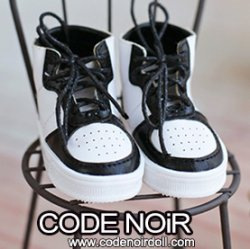 CMS000178 Black/White Sneakers MSD ver.