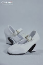 CMS000069 White Mary Jane Heels