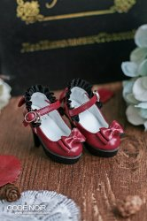 CMS000107 Red Frilly Ribbon Pumps (High Heel)