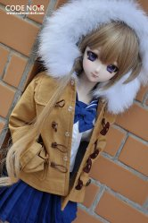 CSD000067 Brown Duffle Coat