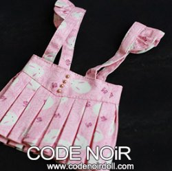 COB000045 Pink Rabbit Jumper Skirt