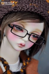 CAC000019 Black Rectangular Glasses for SD