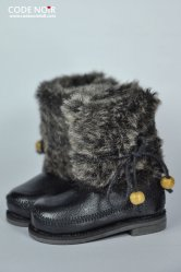 CMS000056 Black Faux Fur Boots