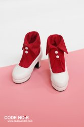 CMS000089 Red Collar x White Heels
