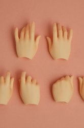 [Outer Body Part] Hand Parts Three Pair Set Whitey (Blushed)
