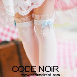 CAC000056 Blue Ribbon/White Socks for 1/3, 1/4 dolls