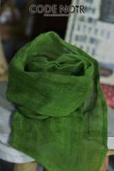 CAC000013 Green Linen Scarf
