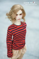 CSD000085 Red & Navy Stripe Long Sleeve Top