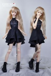 COB000002 Black Chiffon Dress