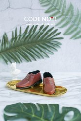 CBS000027 Brown Strap Loafers