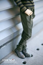 CSD000090 ArmyGreen Side Elastic Trousers