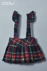 COB000014 Tartan Cross Jumper Skirt
