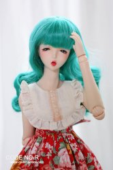 CYW000072 Teal Long Wavy