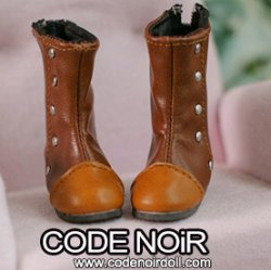 CYS000061 Light Brown Two Tone Rivet Boots