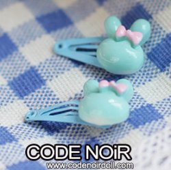 CAC000101 Blue Rabbit Hair Clips (Free Size)