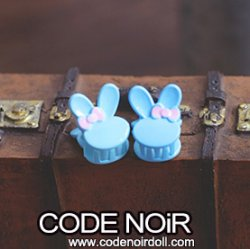 CAC000113 Blue Rabbit Hair Clips (Free Size)