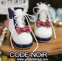 CYS000052 Navy/White Lolita Ankle Boots