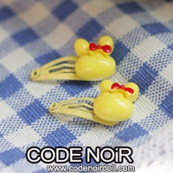 CAC000102 Yellow Rabbit Hair Clips (Free Size)