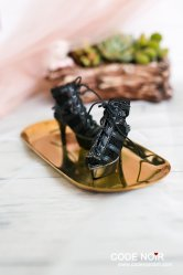CMS000076 Black Lace Caged Heels
