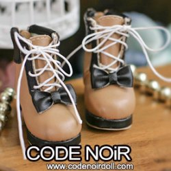 CYS000051 Brown Lolita Ankle Boots