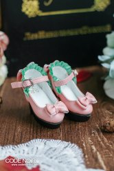 CMS000106 Pink Frilly Ribbon Pumps (High Heel)