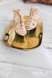 CMS000079 Nude Lace Caged Heels